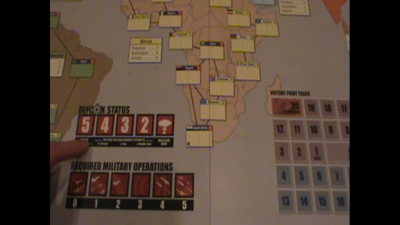 Twilight Struggle Board Game Review Part 1 Youtube