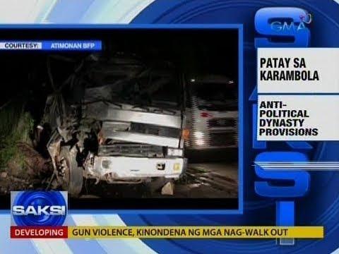 Saksi: 2 patay, 16 sugatan sa karambola ng tatlong sasakyan sa Atimonan Quezon