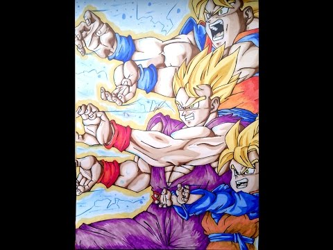 Drawing FAMILY KAMEHAMEHA by Olympia Drawing Attacks