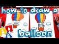 How To Draw A Kitten In A Hot Air Balloon 🐱🎈