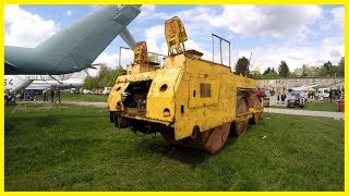 Abandoned Rusty Road Roller DOU-49. Creepy Static Roller Exploring. Lost Heavy Vehicle.
