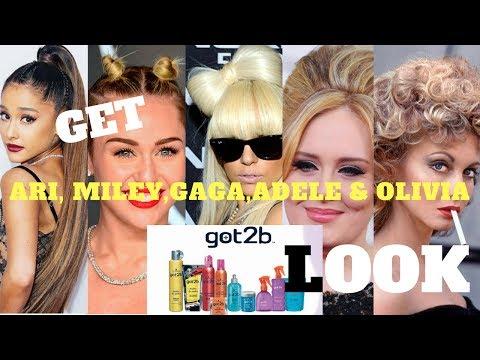 GET THE ( LADY GAGA,ADELE,MILEY CYRUS , ARIANA GRANDE & OLIVIA) LOOK