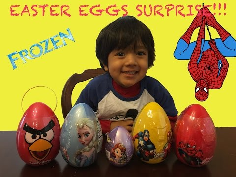 Thumbnail: Easter eggs Surprise 2015 Frozen disney spiderman angry bird marvel heroes sofia