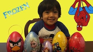 Easter eggs Surprise 2015 Frozen disney spiderman angry bird marvel heroes sofia thumbnail