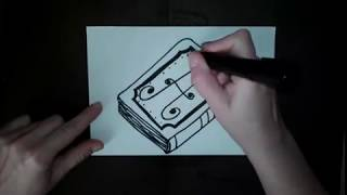 Как нарисовать книгу   -     How to draw a book Как нарисовать милые рисунки