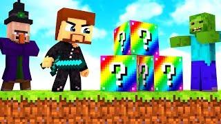 РАДУЖНЫЙ ЛАКИ БЛОК ХОЧЕТ МЕНЯ УБИТЬ - Minecraft ЛАКИ БИТВА #3