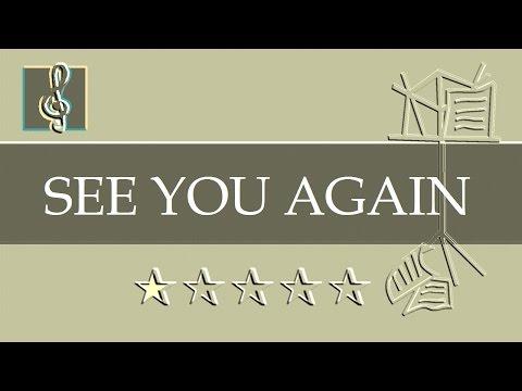 Video Sheet Music - See You Again - Fast & Furious 7 (Guitar chords)