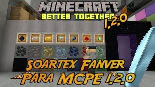Soartex Fanver Para Minecraft PE 1.2.1 Better Together   64x64 Super HD   Texturas MCPE  