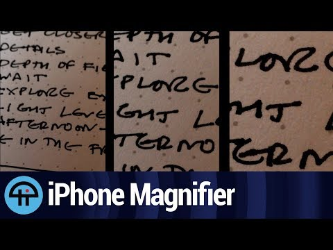 How to Turn on the iOS Magnifying Glass