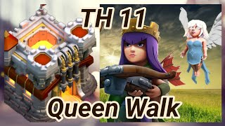 TH 11 | Queen Walk | Bowler Witch | Miner | wall wrecker | 3 Star War Attack | clash of clans COC 20