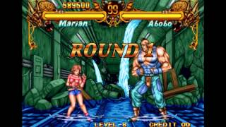 Double Dragon Neo Geo Level-8 Marian No Lose Playthrough