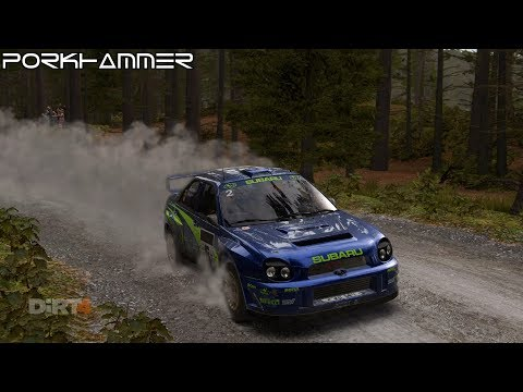 DiRT 4 - Subaru Impreza WRC 2001 - Wales, Career mode (TV replay)