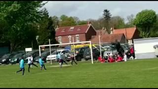 Great Kick from Charlie Sinclair puts Owen Rylatt in.