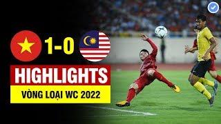 Highlights Việt Nam 1 0 Malaysia | Quang Hải Vô Lê đẳng Cấp Thế Giới   Việt Nam Nhấn Chìm Malaysia
