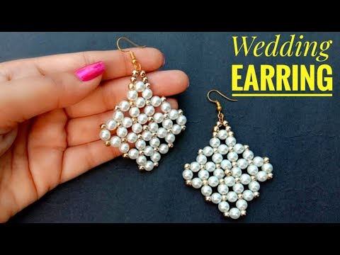 How To Make//Wedding Earring//Pearl Earring// Useful & Easy