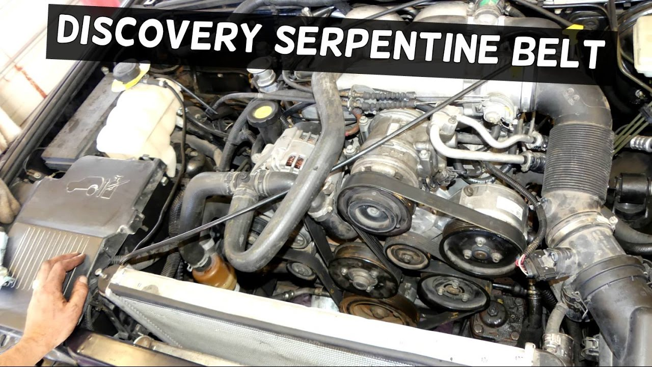land rover discovery serpentine belt replacement diagram 40 youtube