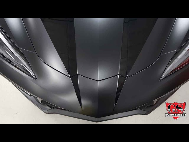 Corvette C8 Clear PPF Stripes on Satin Paint Protection Wrap By Ghost Shield Film in Thousand Oaks