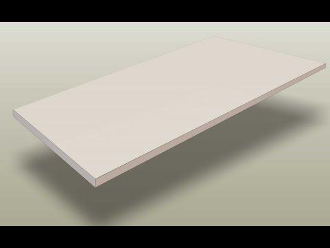 install edge banding on a melamine shelf