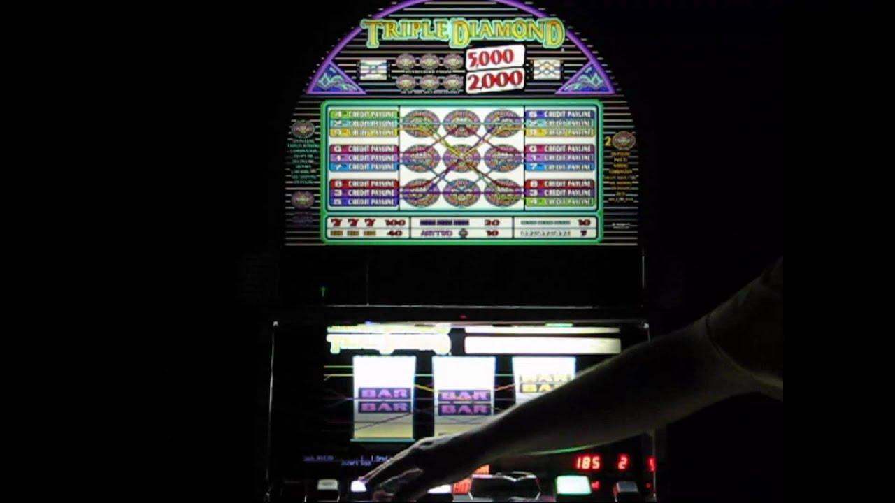 triple diamond 9 lines www bettorslots com youtube