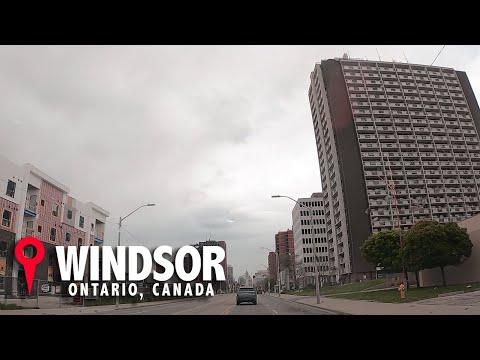 Driving Around Windsor Ontario Canada May 10, 2020