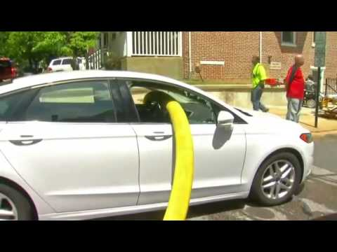 firefighters break windows of car blocking hydrant in wilmington youtube. Black Bedroom Furniture Sets. Home Design Ideas