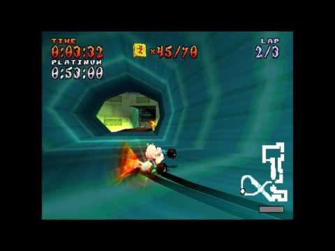 Crash Team Racing N. Gin Labs (Relic Platinum) PERFECT (Polar) 49:06