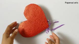 DIY:How to make a heart shaped paper gift box,Diwali Gift ideas, Birthday Gift ideas@ Papersai arts