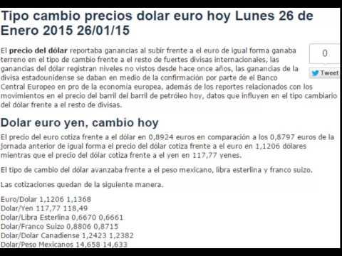 tipo-de-cambio-precio-dolar-euro-hoy-lunes-26-de-enero-2015-26/01/15