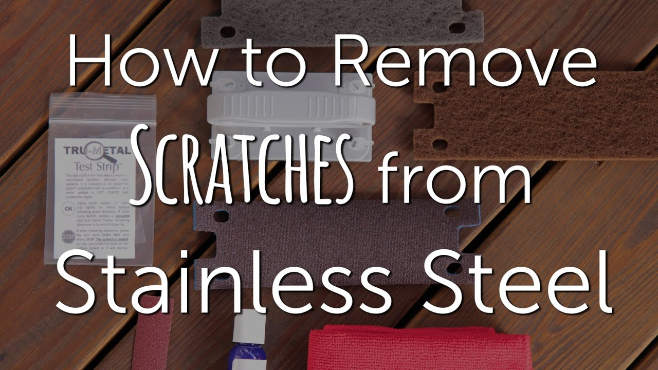 How To Remove Scratches From Stainless Steel Diy Repair