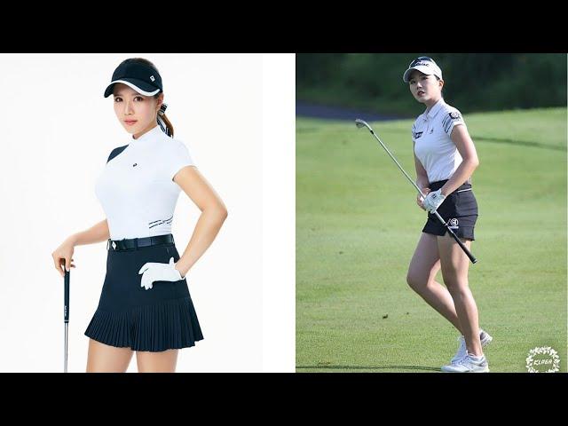 スタイル抜群のセクシー韓国美女達のゴルフスイング動画