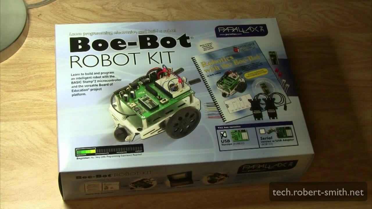 Parallax Boe Bot Robot Kit Unboxing Youtube Usb To Serial Converter For Pic Programming Let39s Make Robots