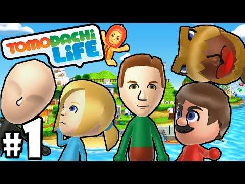 Tomodachi Life 3DS PART 1 Dinosaur Island! Mii, Shaq, & Waluigi Gameplay Walkthrough Nintendo