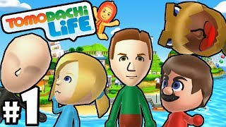 Tomodachi Life 3DS PART 1 Dinosaur Island! Mii, Shaq, & Waluigi Gameplay Walkthrough Nintendo