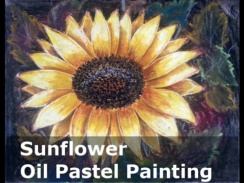 sunflower oil pastel painting lesson full version