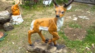 Садовая фигура Косули и Лося фигуры животных купить для квартиры ландшафта сада дачи дома
