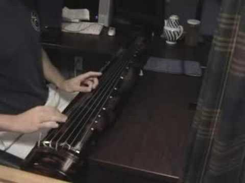 "Me Playing ""Inscription on a Crude Dwelling"" (陋室銘)"