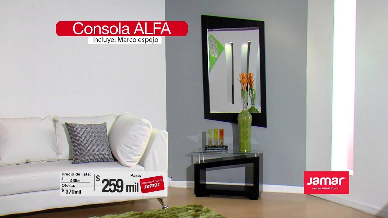 Consola alfa youtube for Muebles consolas