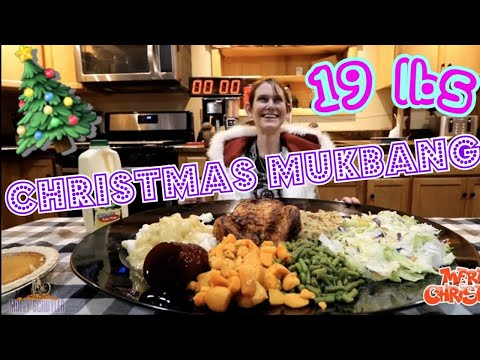 GIRL EATS FULL CHRISTMAS DINNER CHALLENGE | GIRLS VS FOOD CHRISTMAS SPECIAL | CHRISTMAS MUKBANG