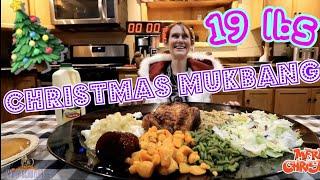 GIRL EATS FULL CHRISTMAS DINNER CHALLENGE | GIRLS VS FOOD CHRISTMAS SPECIAL | CHRISTMAS MUKBANG