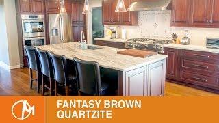 fantasy brown quartzite countertops kitchen