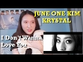 Images June One Kim X Krystal - I Don`t Wanna Love You MV Reaction