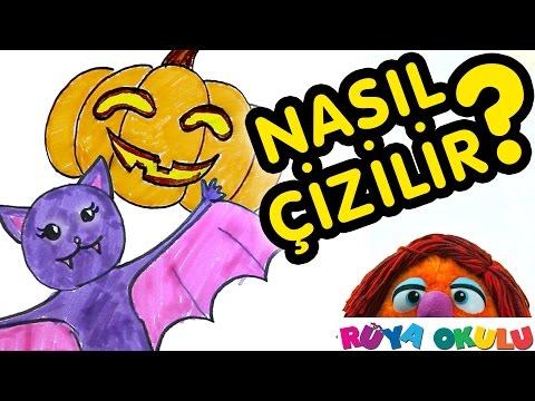 Cadılar Bayramı - Halloween - Nasıl Çizilir? -Yarasa - Balkabağı - RÜYA OKULU