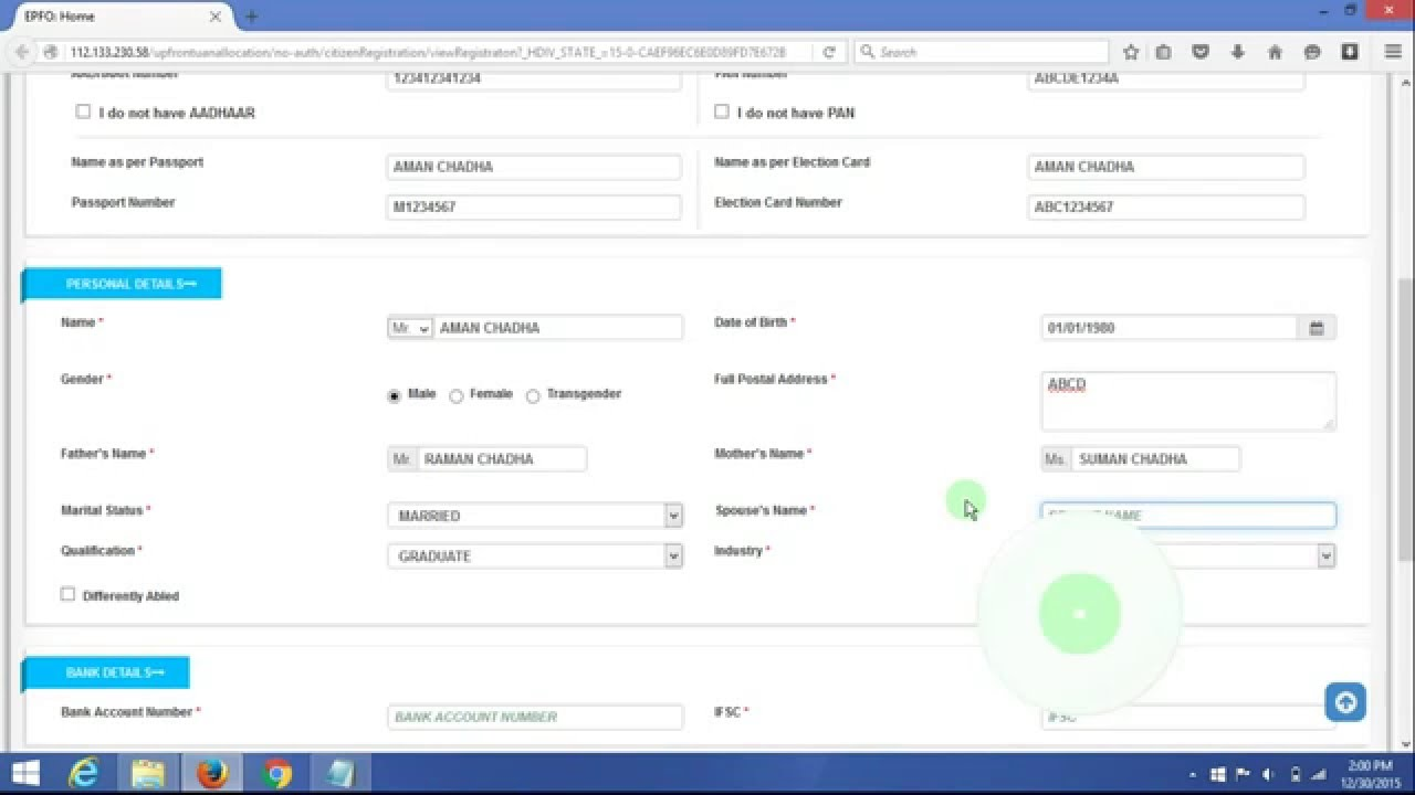 How to Fill UAN Registration Form YouTube – Employee Registration Form