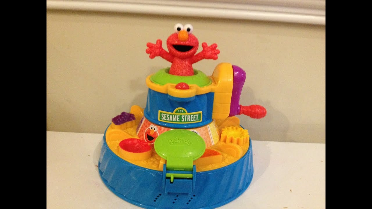 play doh sesame street color mixer toy