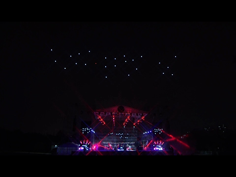 Multi-drone light show at Shanghai Interactive Festival of Theatre in Jiading/SHIFT