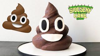 How to Make an Easy Poo Emoji CAKE