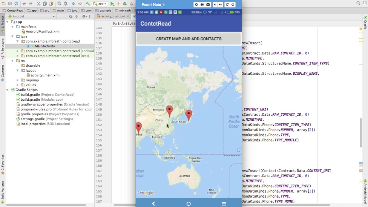 Android Web Tutorials 2- Fetching Contacts from Server and Google Map  Location 2/2