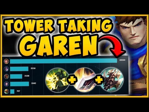 WTF? 3 HIT A TOWER WITH THIS TOWER TAKING GAREN BUILD! GAREN SEASON 9 GAMEPLAY! - League of Legends