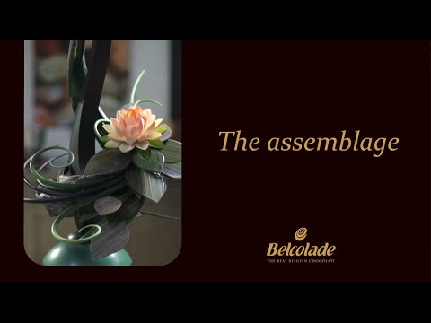 Flower art with Belcolade, Step 6/6 : The assemblage