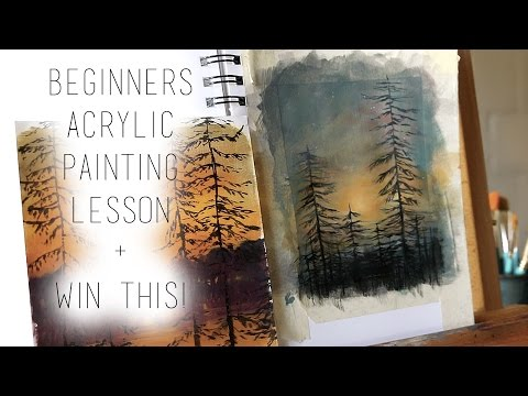 Beginners Acrylic Painting Lesson DIY Tutorial + Win This Painting